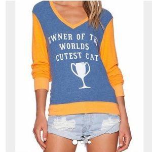 WILDFOX Distressed Sweatshirt - World's best cat